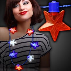 LED Patriotic Star Necklace