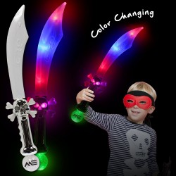 LED Pirate Sword with Flashing Color Lights - 23 Inch